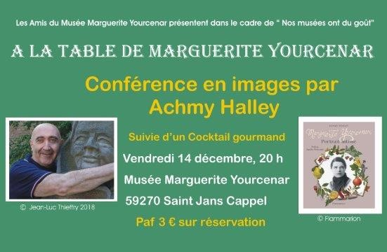 A la table de Marguerite Yourcenar