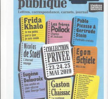 Intimité publique  – au théâtre de la Pépinière