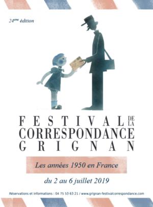 Inauguration du Festival de la correspondance de Grignan 2019